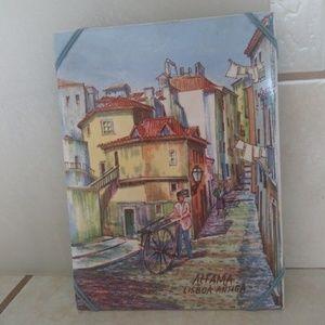 Vintage hand painted tile
